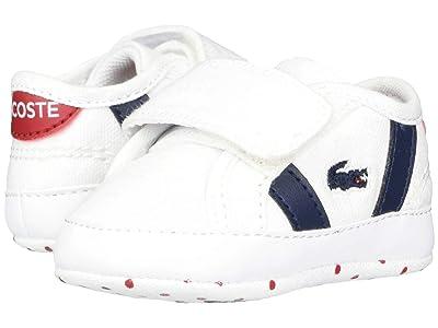 Lacoste Kids Sideline Crib 120 2 CUB (Infant/Toddler) (White/Navy/Red) Kid