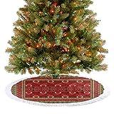 Homesonne Merry Christmas Tree Skirt Rechteckige Rahmen und Abstrakte Formen mit Ottomane Origins...