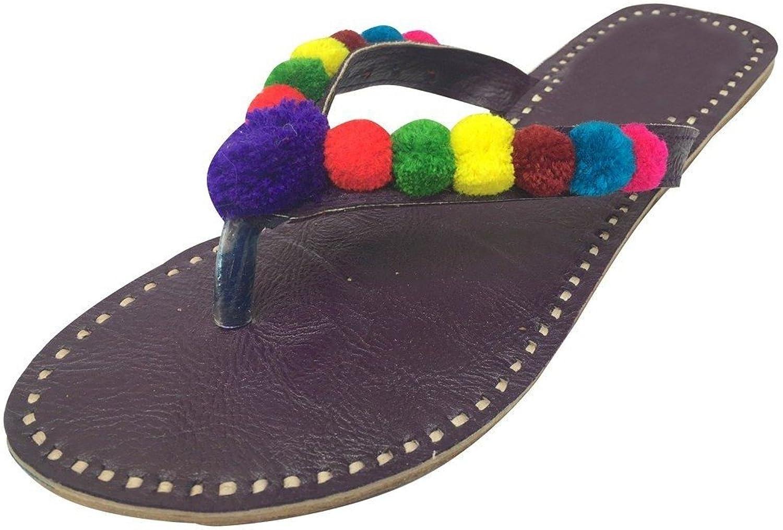 Step n Style Women's Jutti Traditional Punjabi Mojari Khussa Sandle Us Style Chappal