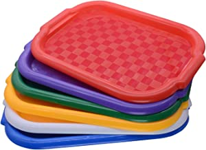 VoiceFly Activity Plastic Art Tray, Colorful Art and Crafts Organizer Trays, Serving Tray, Easy Clean Great for Crafts, Be...
