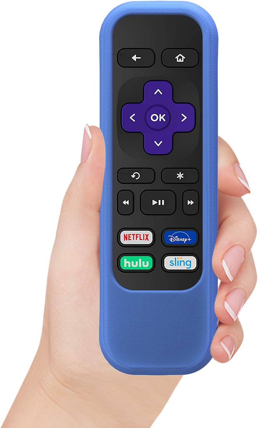 TNP Case Cover for Roku Remote Control Stick (Blue) Roku Express/Premiere Roku 1/2/3 (HD XD XS N1 LT) RC68/RC69/RC108/RC112 with Shock Protection Skin-Friendly Silicone Anti-Lost Loop, 1 Pack