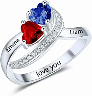 Best sterling silver personalized birthstone ring Reviews