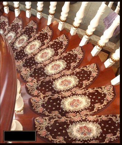 LYYDITAN ZHDC Autoadesivo Scale Carpet Solidi Domestici di Legno Scala Passo Pad Camera di tappeti Antiscivolo Morbido e Confortevole (Dimensioni : 24 * 75cm)