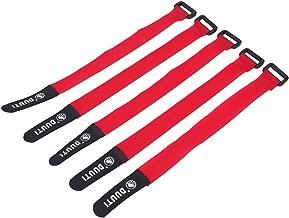 AceCamp 3X Klettgurt Packriemen 2.5 x 30 cm Klettband Klettverschluss Allzweckgurt Befestigungsriemen Fahrrad Schwarz Sport Grau oder Blau Dreier-Pack