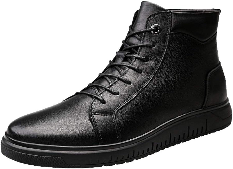 MUMUWU Men's Fashion Ankle Boots Casual Trend Soft Warm Velvet Winter shoes Winter