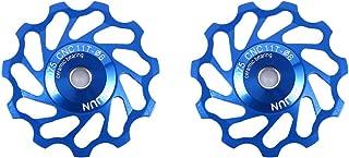 VGEBY 2Pcs Bicycle Rear Derailleur, Jockey Wheel Bike Guide Roller Pulley Accessories 11/13T