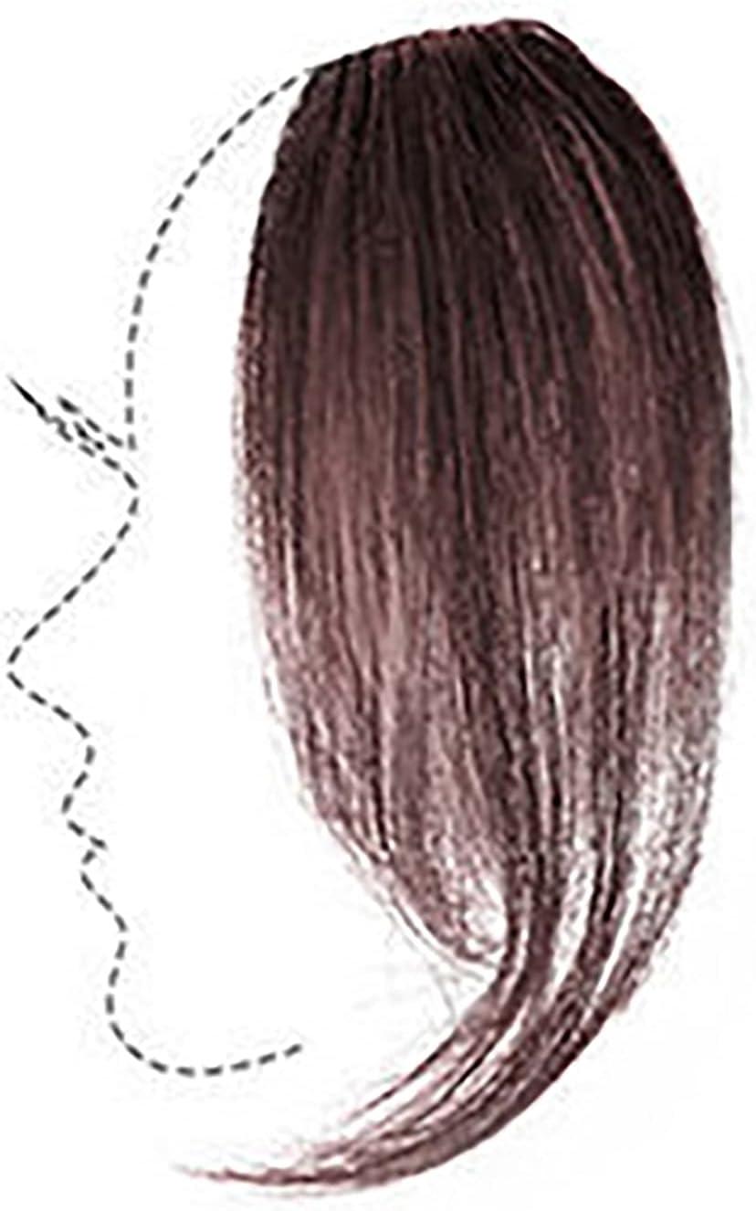 YMQUU Product 2PCS Bangs Girl Real Hair Air Ha Wavy with latest Wig Human