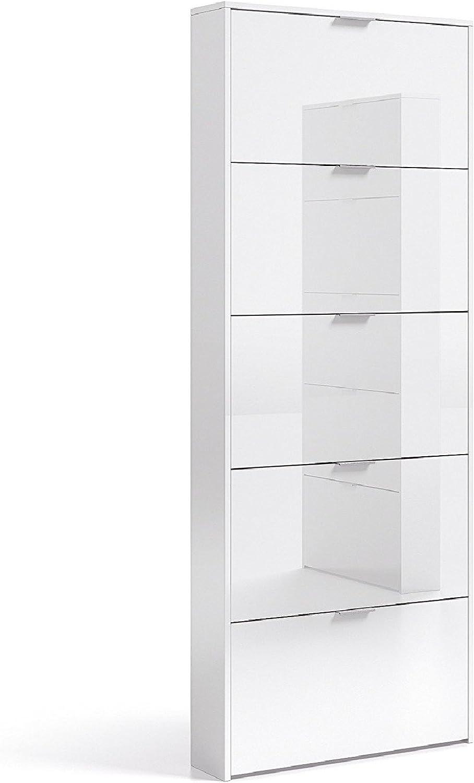 ventas calientes Hogar Decora Zapatero Alto 5 5 5 Trampones abatibles Color blancoo Brillo Diseño Discreto Sencillo  tienda de venta en línea