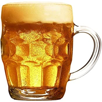 Jarras De Cerveza Vasos De Cerveza Hogar Con Mango Vaso Cerveza Bar Vino Con Leche Bebida Cocina 250Ml,Vaso De Vidrio - 250 Ml: Amazon.es: Hogar