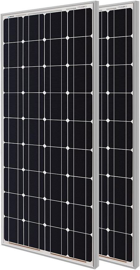 Renogy 2 Pieces 100W Monocrystalline Fees free!! Photovoltaic PV Panel Max 42% OFF Solar