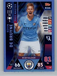 2018-19 Topps UEFA Champions League Match Attax #156 Kevin De Bruyne Manchester City FC Official Futbol Soccer Card