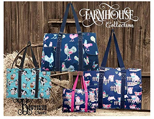 FREE Personalization ~ Farmhouse Collection ~ Cows ~ Rooster ~ Utility Tote ~ Haul-It-All Basket ~ All purpose Purse ~ Farm Life ~ Animal