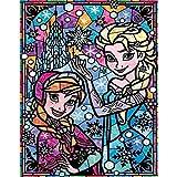 Kit de pintura de diamantes 5D por número, princesa Anna Princesa Elsa taladro completo bordado punto de cruz suministros arte arte adhesivo de pared decoración 45 x 45 cm