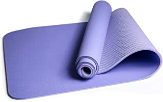 ECO-WILL Double Color Yoga Mat Thick 0.24 inch Yoga Mat Eco-Friendly Non-Slip Fitness Exercise Mats Pilates and Floor Exer...