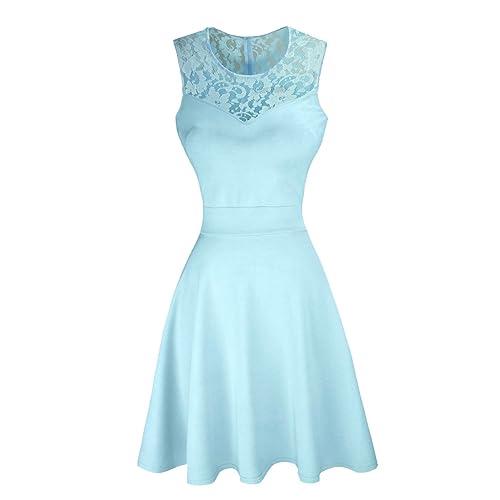 Light Blue Lace Dress Amazoncom
