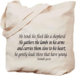 Bible handbag -Isaiah 4011 He Tends His Flock Like a Shepherd He Gathers the Lambs in His Arms and Carries Them Close to His Heart He Gently Leads Those That Have Young