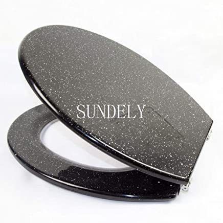 SUNDELY® Glitter Toilet Seat Range - Resin Glitzy Sparkle Resin Bathroom 232653
