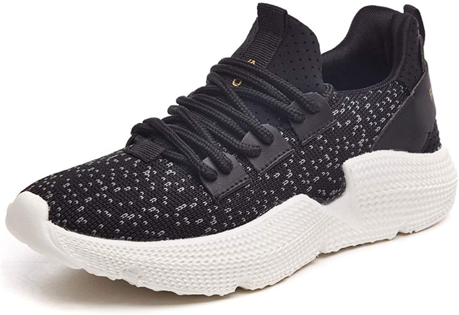 ProDIgal Women's Lightweight Mesh Sport Running shoes Powder Black White Comfortable