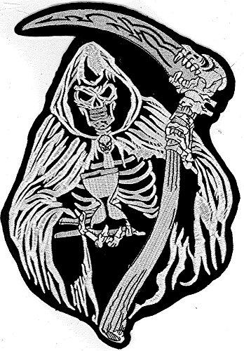 XXL Reaper Der Tot Sensenmann Jedermann Biker Heavy Metal Patch Aufnäher BACKPATCH