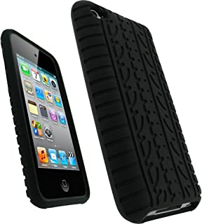 igadgitz U0672 Case Silicona Funda Neumático Compatible con Apple iPod Touch de 4ª Generación - Negro