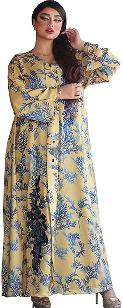 Ranking TOP20 Tayaho Women's favorite Summer Maxi Dress Embroidery Robe Sequins D Abaya