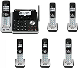 AT&T TL88102 2 Line Phone System with 6 HANDSETS Answering System DECT 6.0