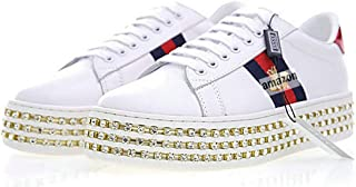 673a0e757a Ace Crystal Embellished Chaussure De Sport Blanche Snake Homme Femme  505995Dope0 Bee 3539