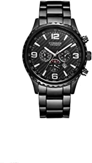Curren Watch Set For Men Analog Stainless Steel - 8056