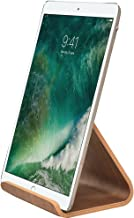 SAMDI iPad Stand for Kitchen, Wood Tablet Desktop Stand Holder Dock for iPad Pro 9.7, 10.5, Air, mini 2 3 4, Kindle (Black Wanlut)