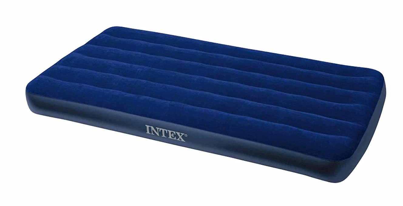 Intex Classic Downy Air Bed Royal Blue, Twin Size