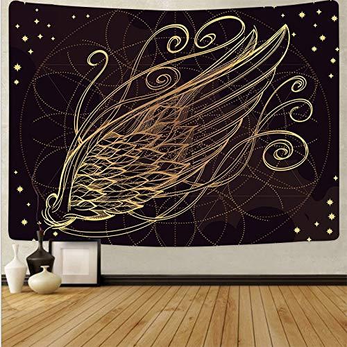 Pluma psicodélica colgante de pared arte tapiz de tela de pared alfombra de fondo estera de yoga tapiz de tela de fondo A3 180x200cm