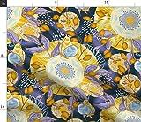 Spoonflower Stoff – Batik-Sonnenblume Blume Schmetterling