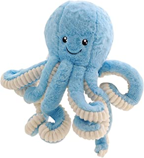 TQZY Stuffed Animal Plush Toy Lovely Giant Octopus Stuffed Plush Doll Toy Ocean Animal for Kids Birthday Gift Or Home Decor (Blue/Pink) Different Sizes