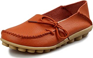 Surprise S Women Leather Flat Moccasin Loafer Casual Ladies Slip On Cow Driving Fashion Ballet Boat Summer