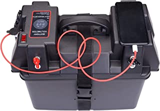 Homeon Wheels Boat Power Smart Battery Box Power Center with Voltmeter for RV / 4WD / Marine/Camping (PB-700)