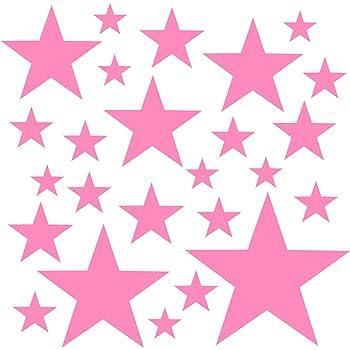 Facile /à Poser Rose Autocollants D/écoration Murale Chambre B/éb/é PREMYO Set de 25 Stickers Muraux Enfants Nuages