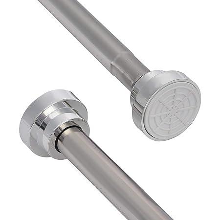 Shower Curtain Rail White 160-300 cm Shower Rod For Shower Curtain