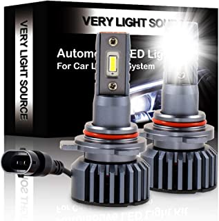 ECCPP 9012 LED Headlight Bulb Hi/Lo Beam White Headlamp Conversion Kit DOT Approved - 80W 6000K 9600Lm 12xCSP Chips - 1 Year Warranty(Pack of 2)