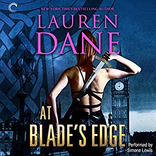 At Blade's Edge     Goddess With a Blade              By:                                                                                                                                 Lauren Dane                               Narrated by:                                                                                                                                 Simone Lewis                      Length: 8 hrs and 58 mins     15 ratings     Overall 4.7
