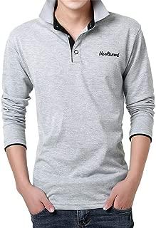 IHGTZS T-Shirts for Men, Fashion Mens Letter Printing Shirt Long Sleeve Casual T-Shirt Blouse Tops