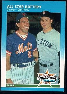 Baseball MLB 1987 Fleer #634 Roger Clemens/Gary Carter All Star Battery