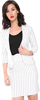Momo&Ayat Fashions Ladies Smart Striped Slim Fit Blazer AUS Size 6-14