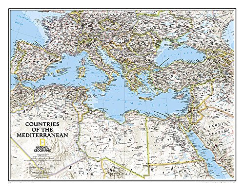 Download Countries of the Mediterranean Classic: Wall Maps - Countries & Regions (National Geographic Reference Map) 1597755850