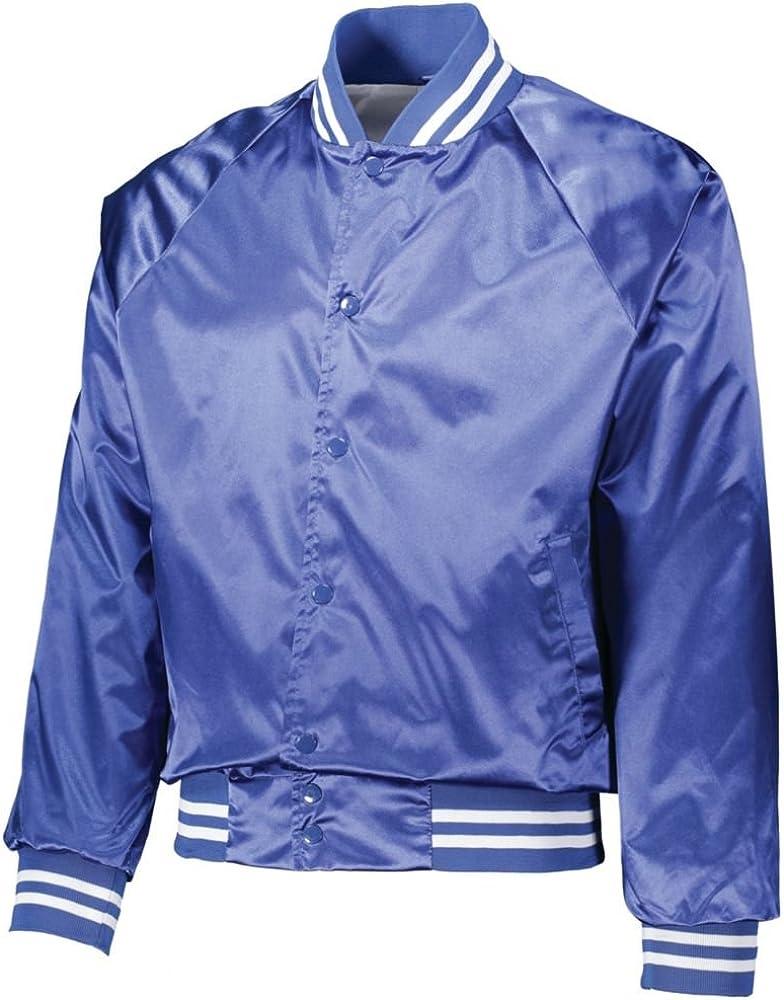 Augusta Activewear Men's Satin Baseball Jacket/Striped Trim