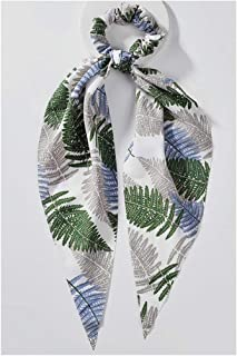 Fashion Hair Accessories for Women Snake Skin Leopard Grain Dot Printed Bandanas Scarf Ponytail Holder Scrunchies,321