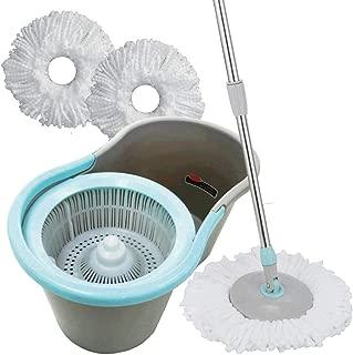 手回し回転モップ モップ3個セット 片手で簡単楽々脱水 雑巾 掃除 バケツモップ 水拭き