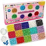 Colores mezclados 3 mm Cuentas de semillas de vidrio Mini cuentas de Pony Mini espaciador 1.5 mm Agujero para pulseras Fabricación de joyas (15 colores)