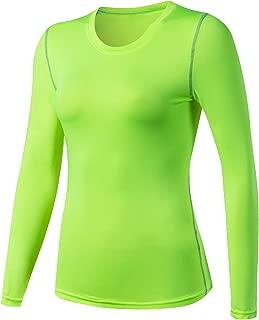 Women's Compression Shirts Crewneck Long Sleeve Dri Fit Workout Shirts