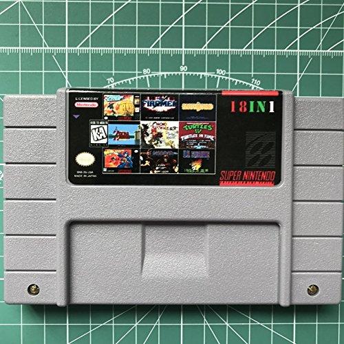 snes game cartridge 18 in 1