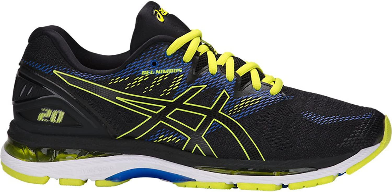 ASICS Men's Gel-Nimbus 20 Running shoes, Black Sulphur Spring Victoria bluee 7 D US